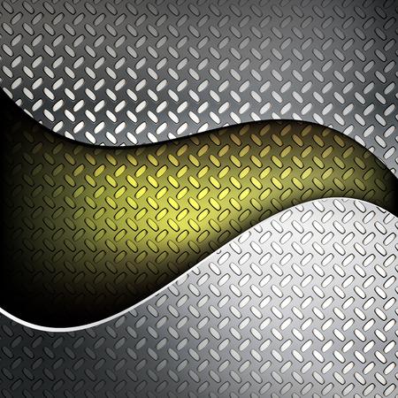 Geriffelte Metall Textur. Vektor-Illustration