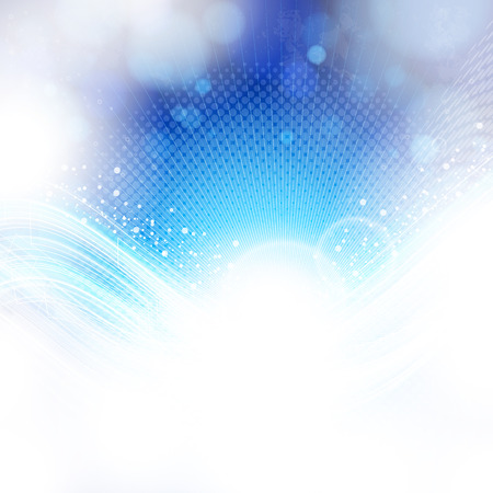 synergie: abstrakt blau und hellen Hintergrund.