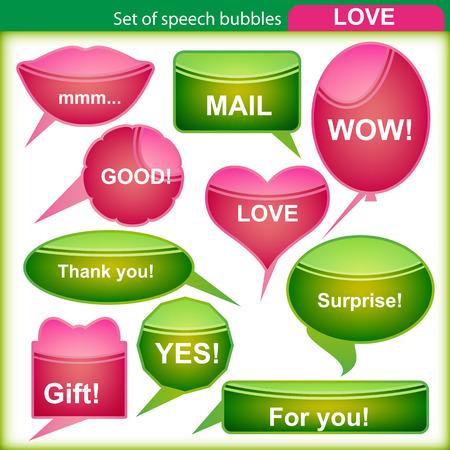 Set of speech bubbles. Vector