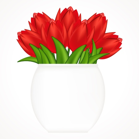 bright tulips. Gradient meshes.