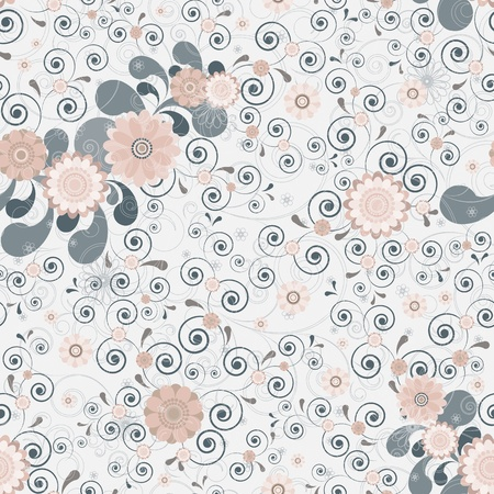 powdery: Floral seamless background of elegant colors.