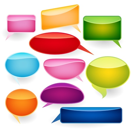 Speech bubbles of traditional and original forms. Stock Vector - 9143385