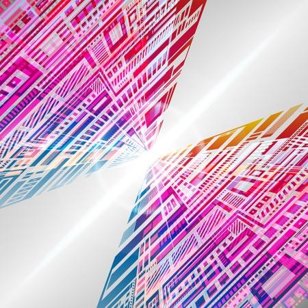 Abstract versicolor background. Vector. Stock Vector - 9216537