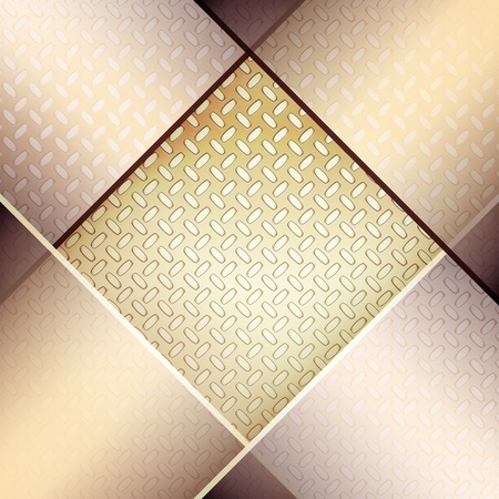 Abstract background with fluted metal texture. Vector
