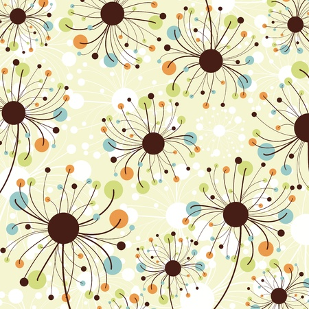 scrapbook element: Retro abstract floral Kulisse.