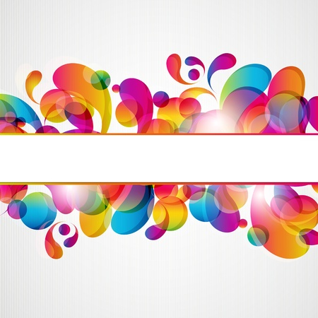 Abstract background with bright circles and teardrop-shaped arches.
