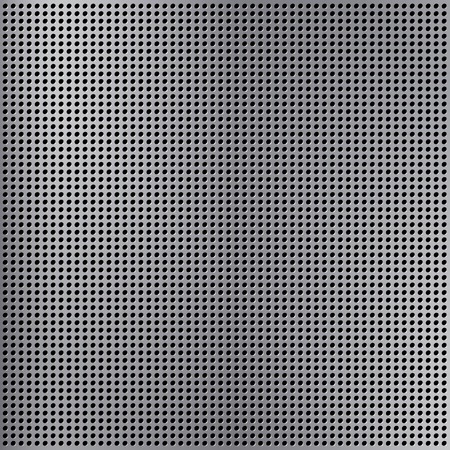 Round cell metal background. Vector