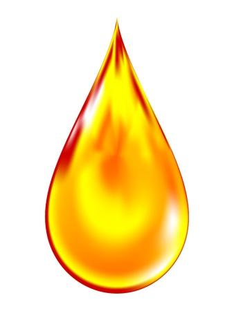 a golden drop of oil.
