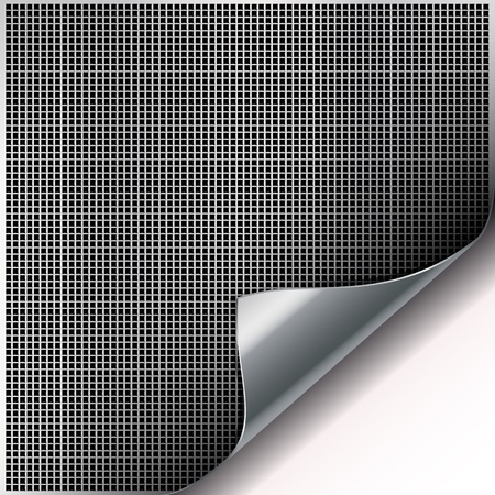 Square cell metal background with curved corner. Stock Vector - 9370692