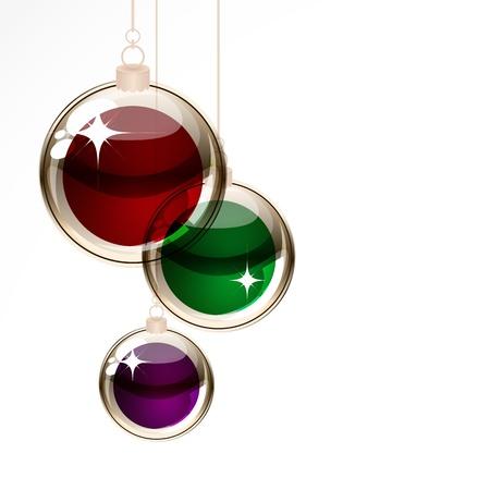 purple glasses: Christmas transparent balls