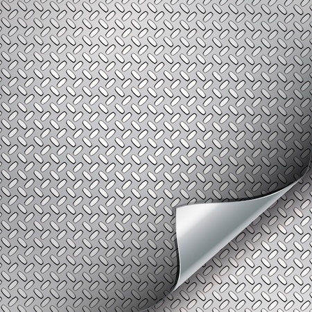 Metal backgrounds with curved corner. Stock Vector - 9426405