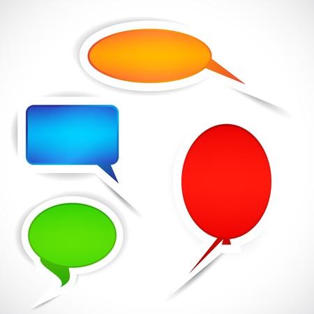 Set of sticker bubbles for speech. Stock Vector - 9451932