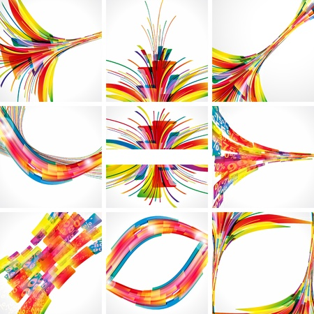 Abstract colorful backgrounds. Elements for design. Eps10. Vector