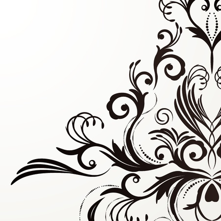 Retro floral background for vintage design. Stock Vector - 9510444