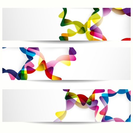 Abstract banner with forms of empty frames for your web design. Stock Vector - 9510450