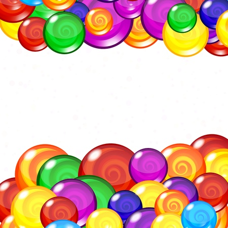 Candy background, Editable Illustration. Vector