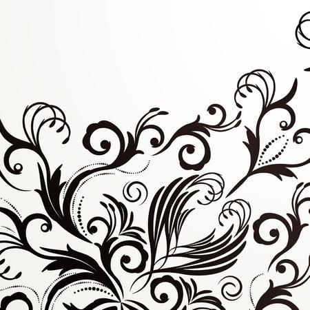 Retro floral background for vintage design. Stock Vector - 9542156