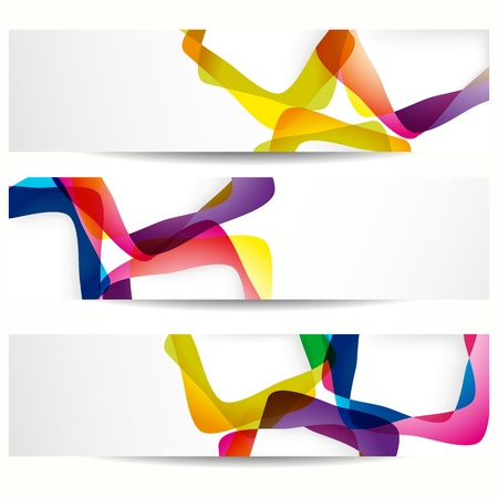 Abstract banner with forms of empty frames for your web design. Stock Vector - 9542179