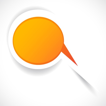 orange sticker bubble for speech. Stock Vector - 9542205