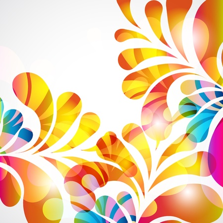 Abstract background with bright teardrop-shaped arches. Vector