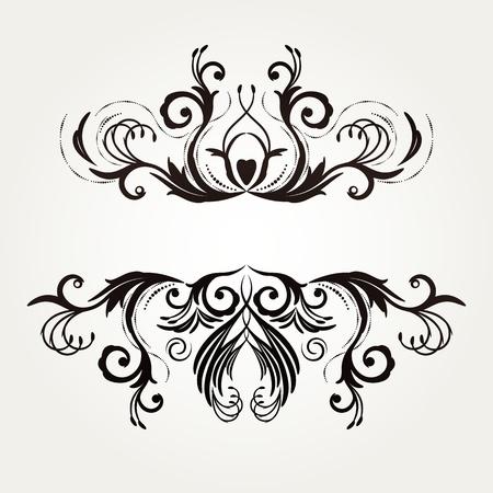 vignette: R�tro floral arri�re-plan pour la conception de vintage. Illustration