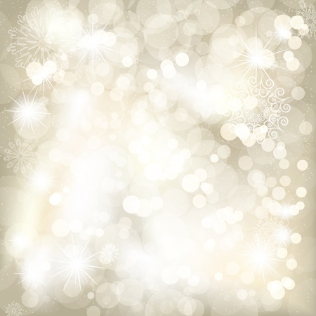 Christmas background with snowflakes and place for your text  Vector