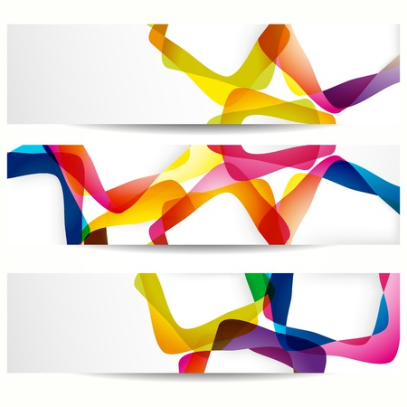 in shape: Abstract banner with forms of empty frames for your web design. Illustration