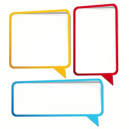 Lange sticker in de vorm van een leeg kader voor uw tekst.