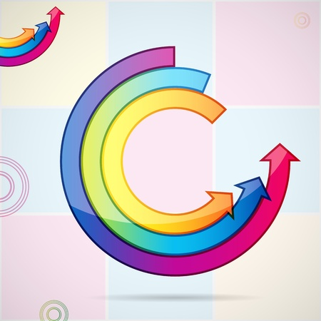 Abstract background with open ring of arrows. Easily editable vector illustration. Stock Vector - 9595505