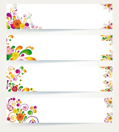 Floral design banners.