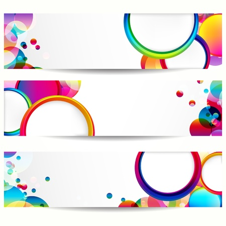 Abstract banner with forms of empty frames. Vector