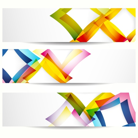 Abstract banner with forms of empty frames for your web design. Stock Vector - 9668628