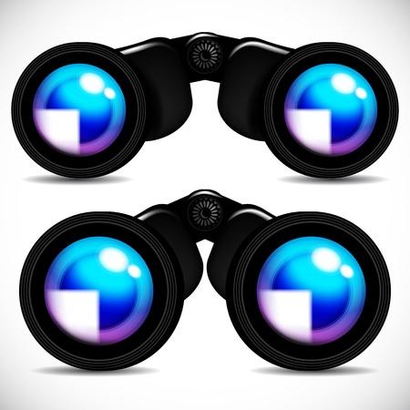 distant: Vector binoculars.