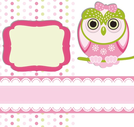 Baby girl Scrap background. Stock Vector - 9668638