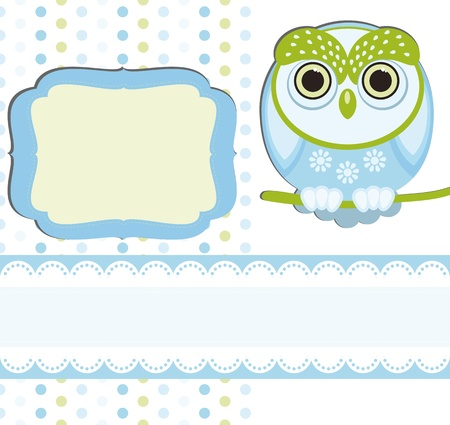 Baby boy Scrap background. Stock Vector - 9721852