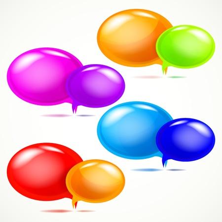 Glossy bubbles for speech, vector illustration. Stock Vector - 9721166