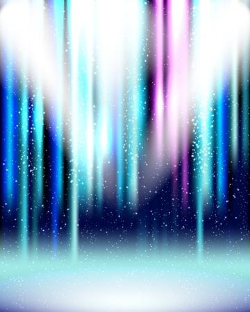 spotlights: Fondo de spotlight azul con efectos de espect�culo de luz. Vectores