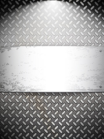 Fluted metal background. Vector Illustration Stock Vector - 9808095
