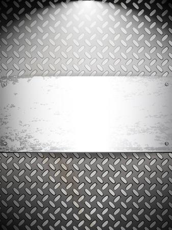 industry pattern: Fluted metal background. Vector Illustration