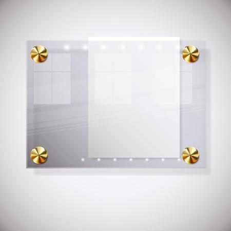 pernos: Fondo abstracto con vidrio Junta de informaci�n. Ilustraci�n vectorial.