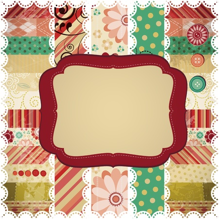 Scrap background made in the classic patchwork technique. Stock Vector - 9808102