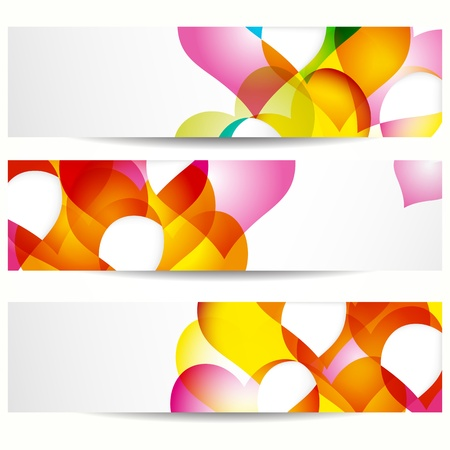 Abstract banner with forms of empty frames for your web design. Stock Vector - 9808086