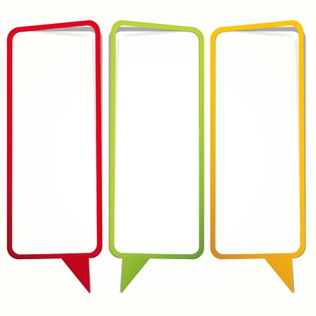 Long vertical oriented sticker in the form of an empty frame for your text. Stock Vector - 9808082