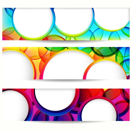 Abstract vector banner with forms of empty frames. Stock Vector - 9808091