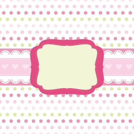 Baby girl Scrap background. Stock Vector - 9808084