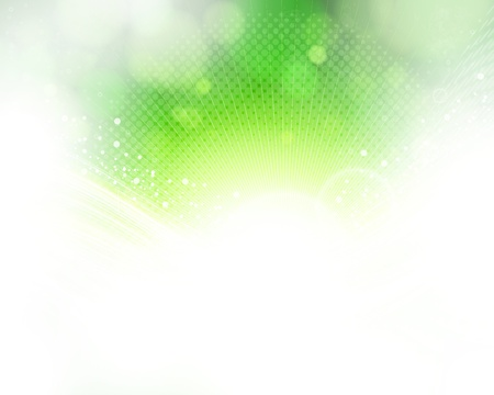 Eps10 abstract green and light background.  Vector