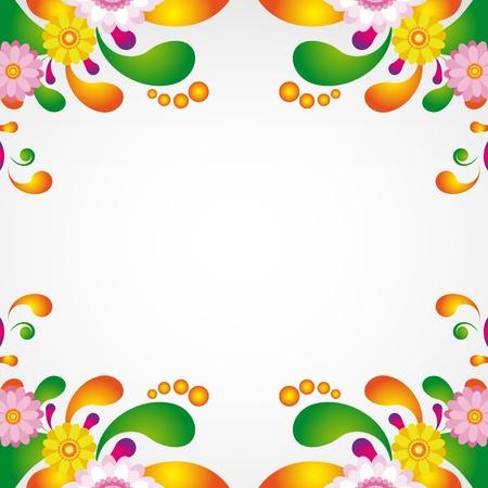 Bloemen ontwerp achtergrond.