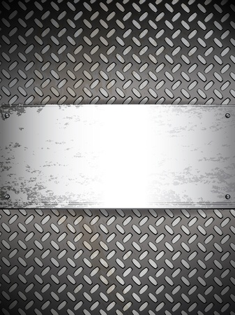 Fluted metal background. Vector Illustration Stock Vector - 9931764