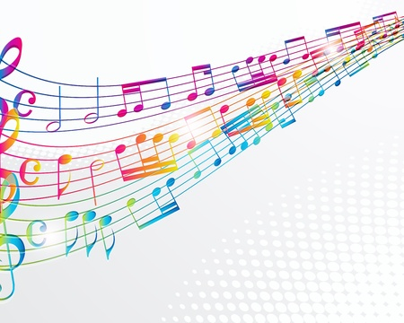 sound wave: Music abstract background.