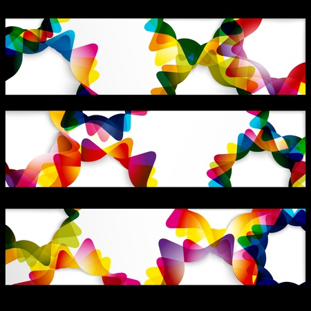 Abstract horizontal banner with forms of empty frames for your web design. Stock Vector - 9931757